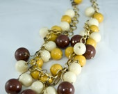 Vintage Mustard, Cream and Brown Harvest Necklace