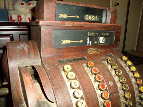 FOR BEVERLY - Antique or Vintage 1923 National Cash Register- Model 842-XX  - Works