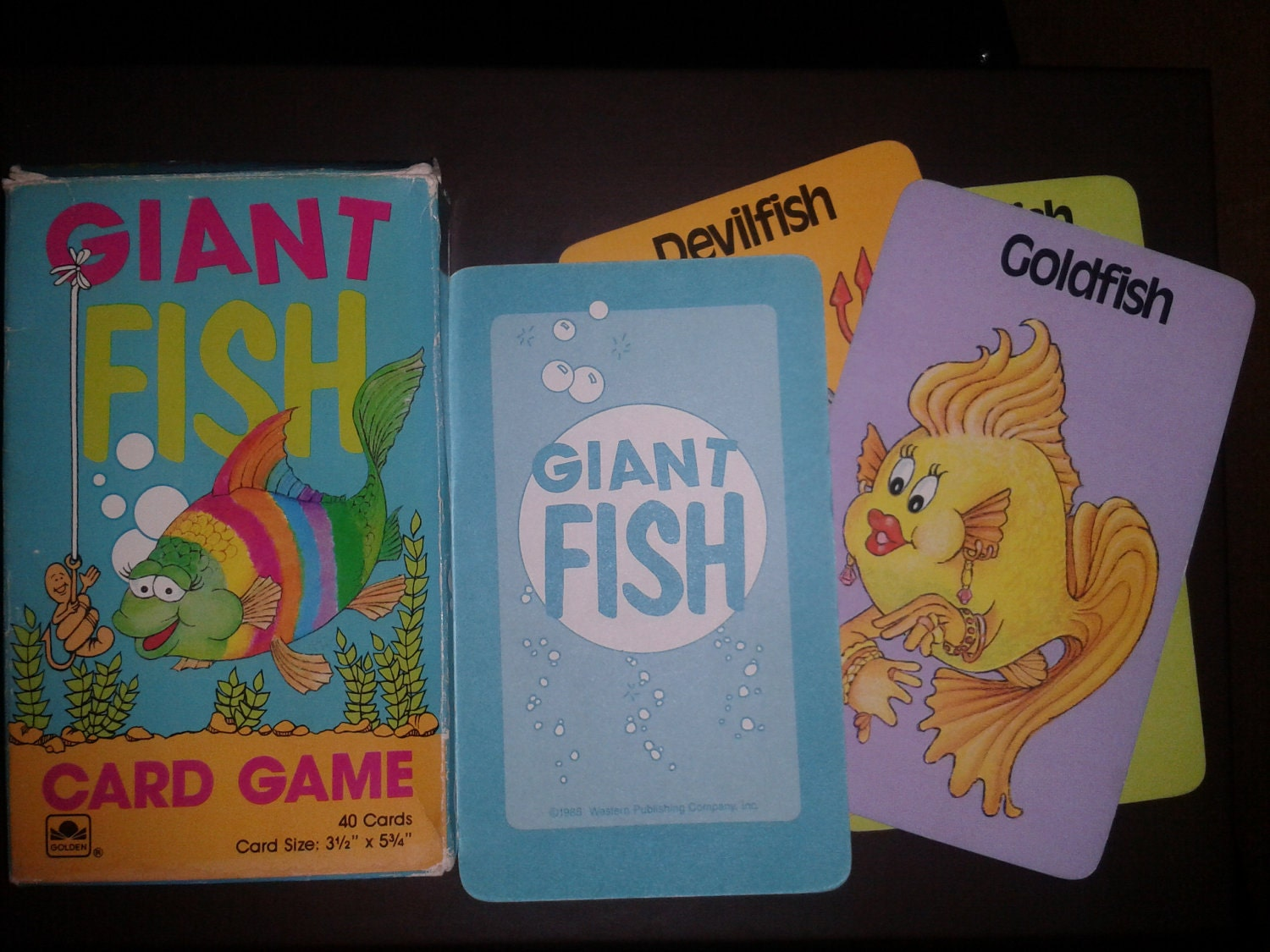 Go fish giant fish card game for Go fish cards