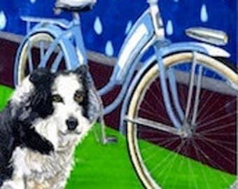 """Dog by Cruiser - Greeting Card 5"""" x 7"""" -  BikeLoversAlley, by Mattie O."""