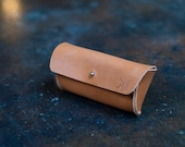 Horween leather sunglasses case
