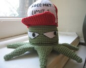 Crochet Amigurumi Early from Squidbillies with Removable Hat