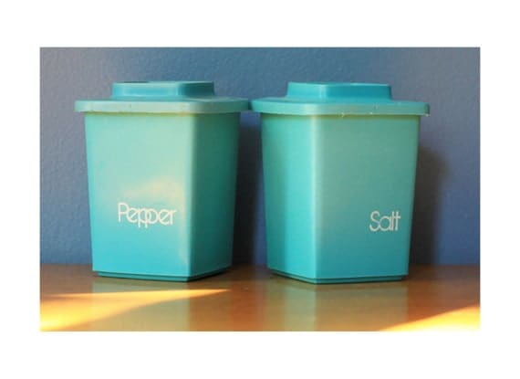 Teal Salt and Pepper Shakers