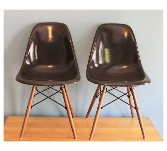 Herman Miller Eames Chairs - Charcoal Gray
