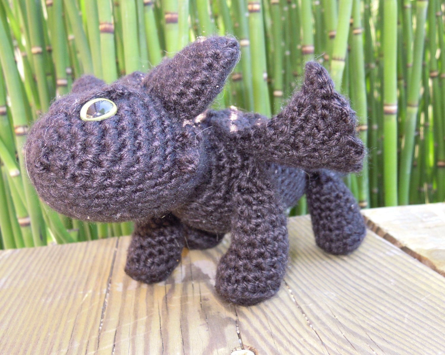 Knitting Pattern Toothless Dragon : Toothless Amigurumi Crochet Pattern