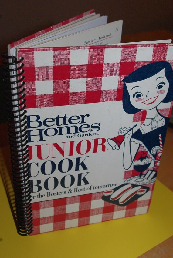 Items Similar To Vintage Better Homes And Gardens Junior Cookbook On Etsy