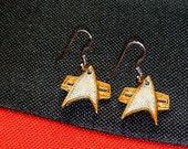 3D Printed Star Trek Communicator Badge Earrings