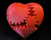 Valentines Day Gift Love 3D Printed Rotating Heart Gear