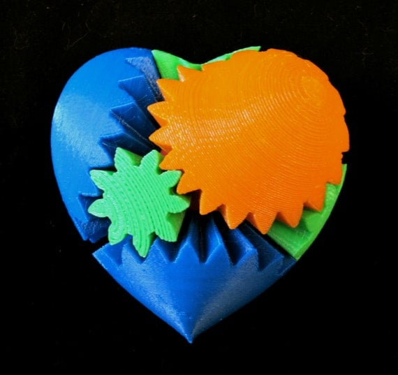 3d printed heart screwless makerbot