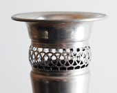 Vintage Tall Art Deco Hollywood Regency Silver Plated Vase