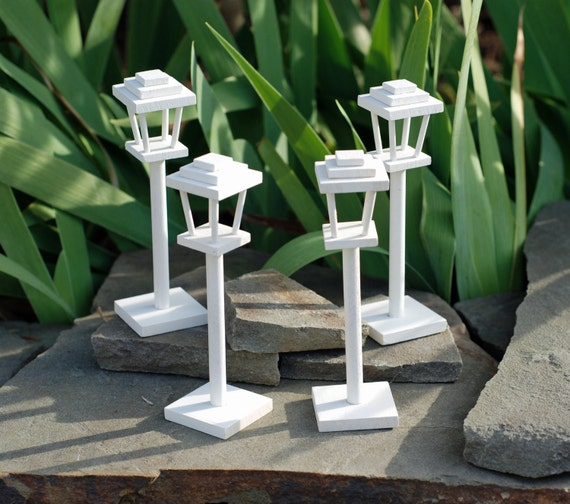 Outdoor Wooden Post Lights: White Wooden Lamp Posts ...Mini 5.25 ....Collection Of