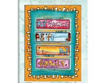 My Greatest Gift by CD Muckosky- a matted fine art print