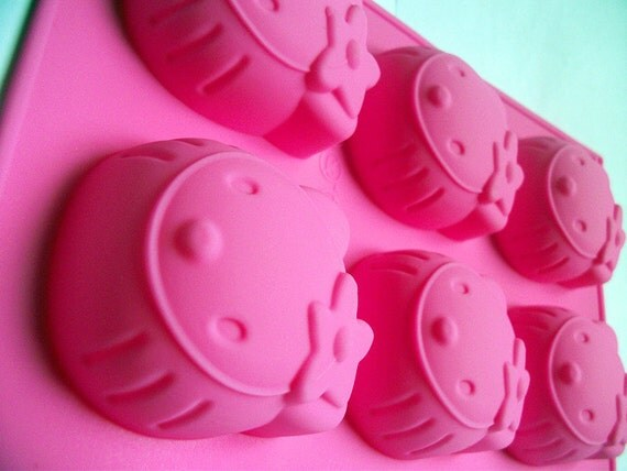 Silicone Cake molds Chocolate mould candy molds soap molds  6 hello kitty FDA Certified