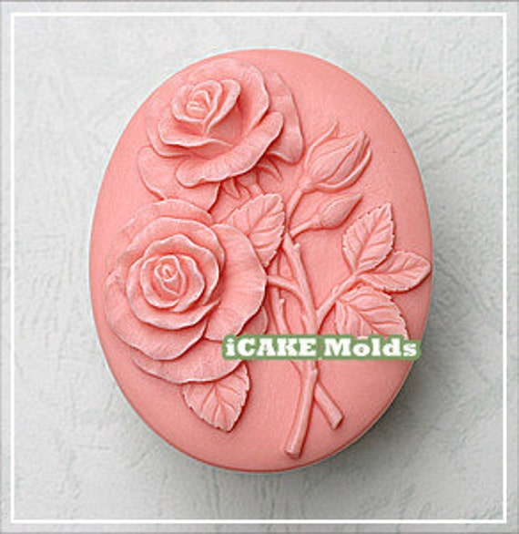 Relief sculpture florals pattern handmade silicone soap art