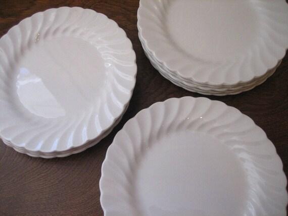 4 Johnson Bros. Snowhite Regency Bread / Salad / Dessert Plates Vintage