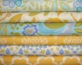 Custom Design Baby Bedding Crib Quilt and Crib Skirt  Yellow White Blue Toddler Blanket Set