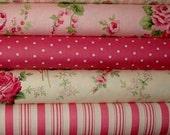 REserved for ShoshyG. Pillow Case /  Girl's Pink Green Roses / Toddler Blanket Set
