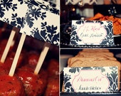Damask Collection - Printable Placecards