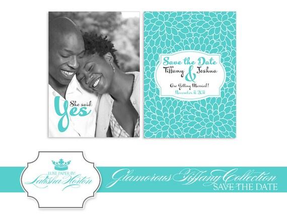 tiffany blue wedding save the date