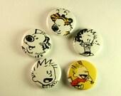 """Calvin & Hobbes 1"""" Pinback Button Set"""