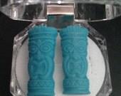 Turquoise Tiki Man Stud Earrings.