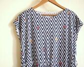 Vintage Geometric Drop Waist Dress