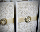 Handmade luxury DL wedding invitation Day or Evening Sample
