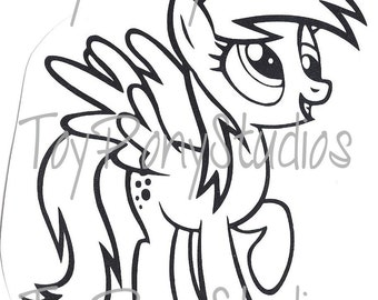 Derpy hooves etsy for Derpy hooves coloring pages