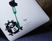 Cheeky hamster decal sticker for iPad, Macbook or wall