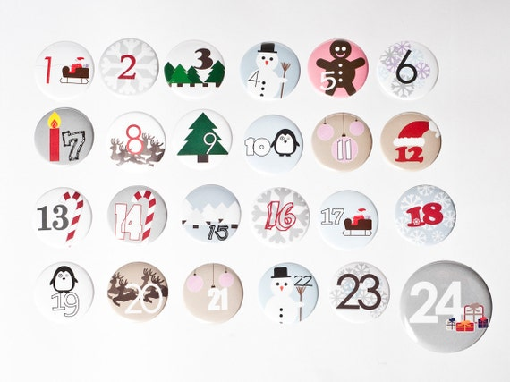 24 Advent calender Buttons