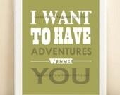 Green Adventures print poster
