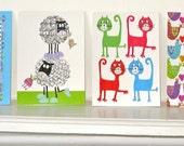 Animal Postcards, Set of 4