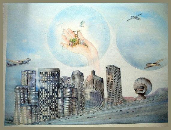 Art Print, Save Our Planet, 8.5x11, dlrs29