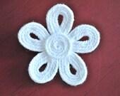 Flower Yarn Brooch White Flower Brooch Pin