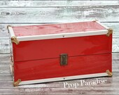 Red Metal Suitcase for photography prop