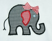 Houndstooth Elephant Applique TShirt