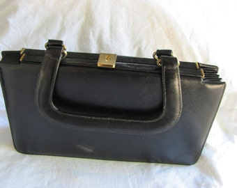 1960s Vintage Rosart Handbag In Black