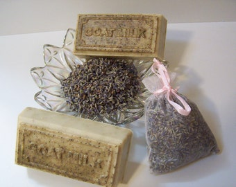Lavender Dreams Goats Milk Soap - Contains ground Lavender Buds - gentle soap, Goats Milk soap, fragrant soap, cleansing soap