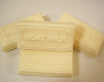 Milk & Butter Soap - Unscented with Goatsmilk and Shea Butter for dry skin - 4.25 ounces