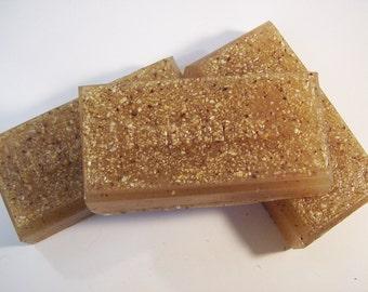 Honey, Almond, Oatmeal Glycerin Soap - Acne prone skin, oily skin, exfoliating soap - Ground oatmeal, almond meal, honey