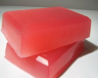 Vanilla Rose Glycerin Soap - Wonderful Spicy Rose Fragrance, Hand Soap, Body Cleanser