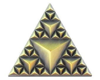Building Blocks 3.0 Pin (antique gold)