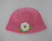 Crochet Baby Hat with flowers - Baby hat - crochet hat