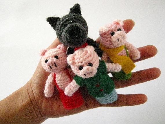 Amigurumi Fairy Tales Free : Items similar to Three Little Pigs - Fairy Tale ...
