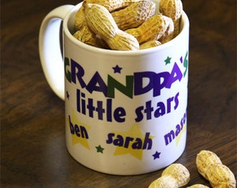 Personalized Mug for Dads and Grandpas : Customize with Children's or Grandchildren's Names
