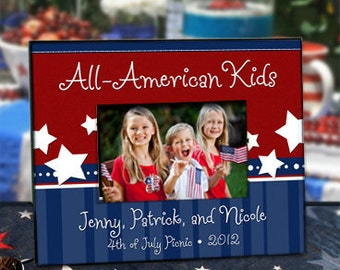 Patriotic Picture Frame : Personalize with your 4th of July or Memorial Day Celebration