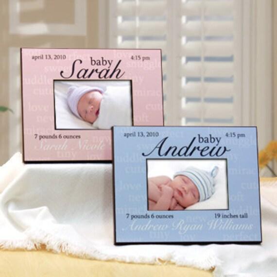 Personalisierte bilderrahmen mit babynamen geburt details - Bilderrahmen personalisiert ...