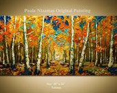 ORIGINAL Abstract Modern Canvas Gallery Quality Wrap Painting Autumn  from P.Nizamas