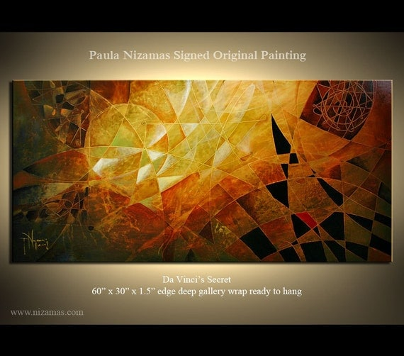 Original Abstract Modern Acrylic Painting Earth Tones Ready to Hang Stretched on Wood Frame by Paula Nizamas