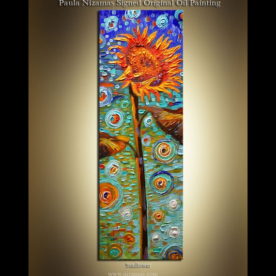 "Reserved for Roussiat - Original  contemporary Palette Knife Textured floral fine art by P. Nizamas 30"" ready to hang"